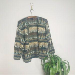 Vintage Retro 70's Alpaca Wool Funky Sweater